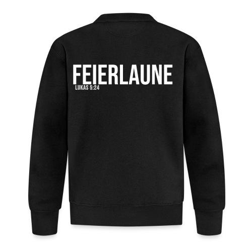 FEIERLAUNE - Print in weiß - Baseball Jacke