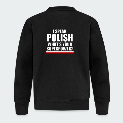 Męska Koszulka Premium I SPEAK POLISH - Kurtka bejsbolowa
