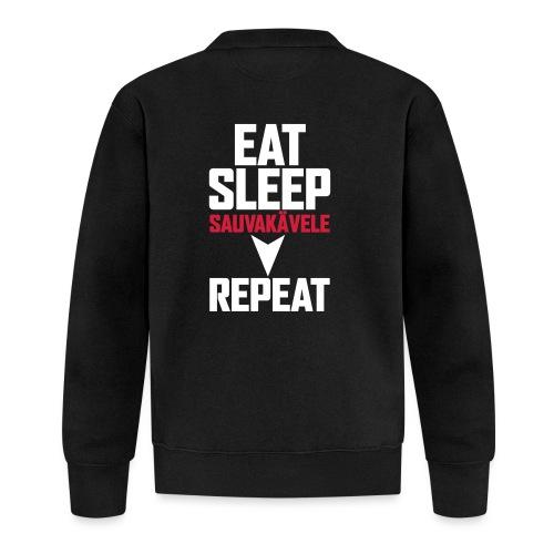 Eat, sleep, sauvakävele, repeat - Baseball-takki