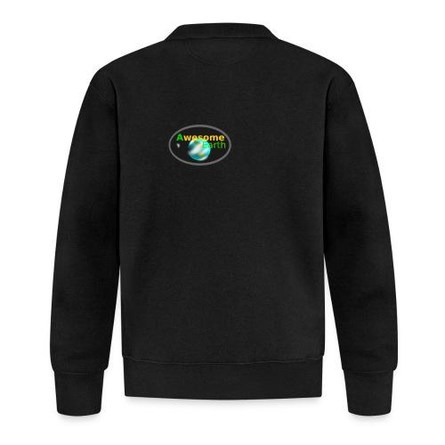 awesome earth - Unisex Baseball Jacket