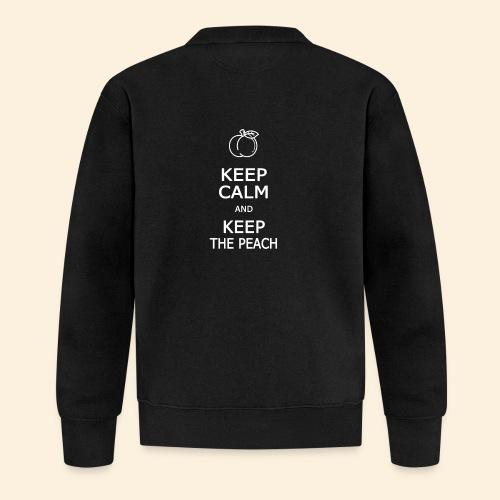 Keep calm and keep the peach - Veste zippée