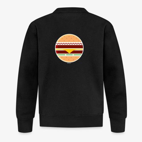 Circle Burger - Felpa da baseball unisex