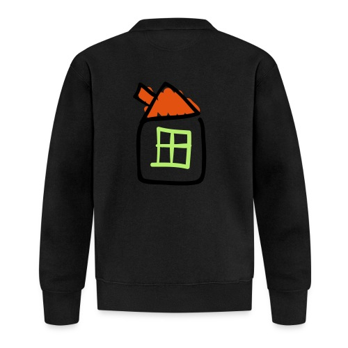 House Line Drawing Pixellamb - Baseball Jacke