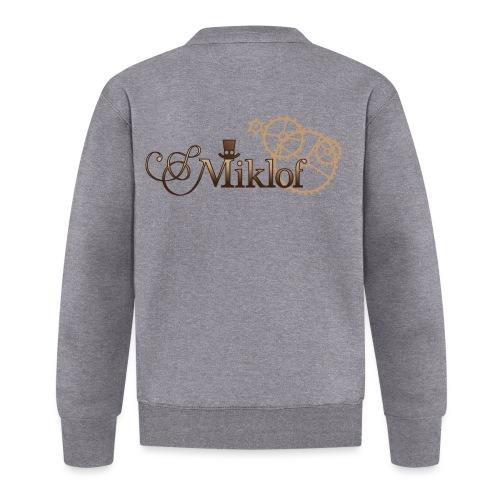 miklof logo gold wood gradient 3000px - Baseball Jacket