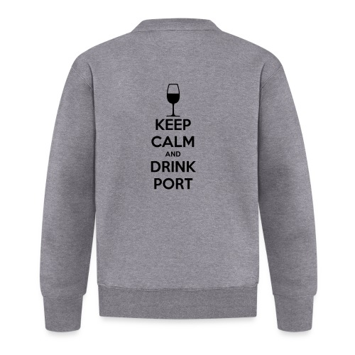 Keep Calm and Drink Port - Baseball Jacket