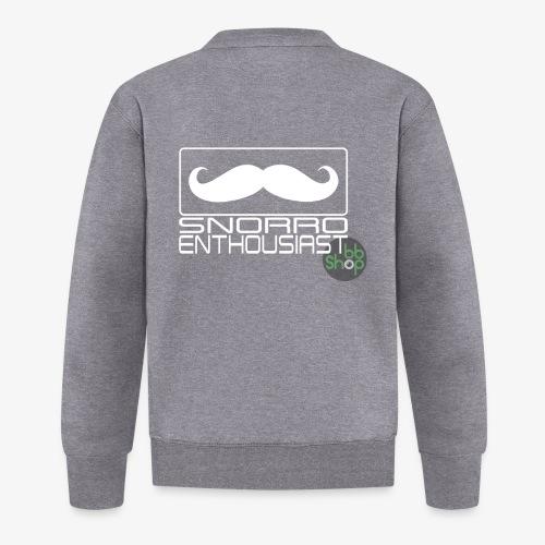 Snorro enthusiastic (white) - Unisex Baseball Jacket