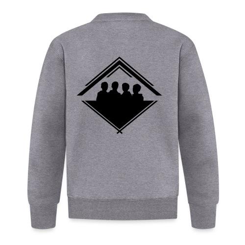 Silhouette Crest Zip Hoodie - Baseball Jacket