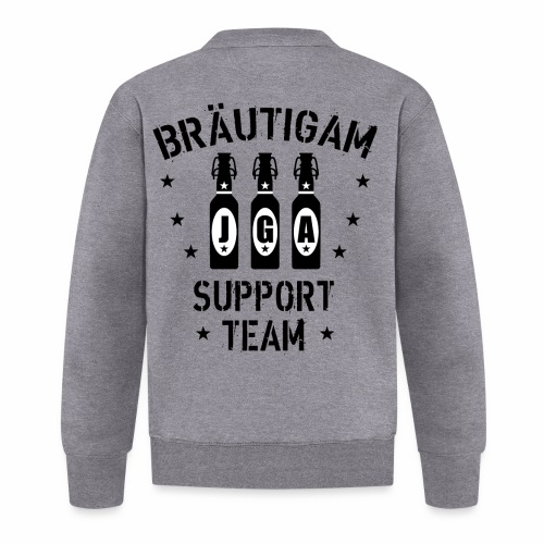 03 JGA Bierflaschen Bräutigam Support Team - Baseball Jacke
