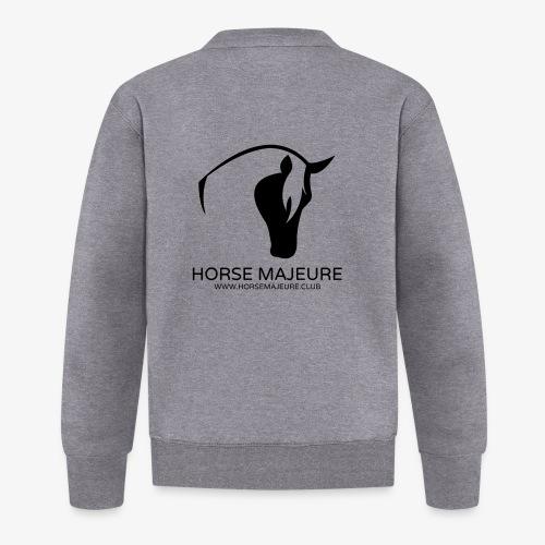 Horse Majeure Logo / Musta - Unisex baseball-takki