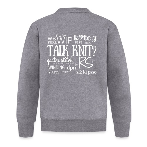 Talk Knit ?, white - Baseball Jacket