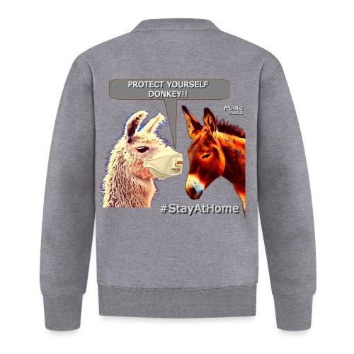 Protect Yourself Donkey - Coronavirus - Baseball Jacket