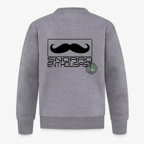 Snorro enthusiastic (black) - Unisex Baseball Jacket