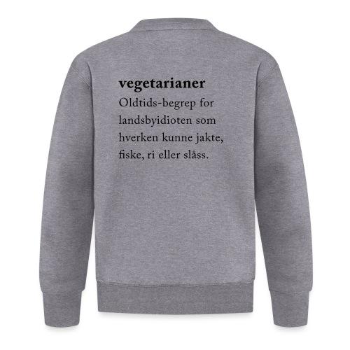 Vegetarianer definisjon - Baseballjakke unisex