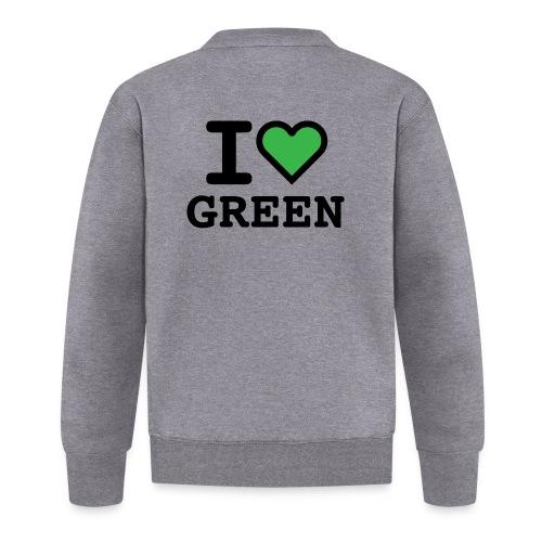 i-love-green-2.png - Felpa da baseball unisex
