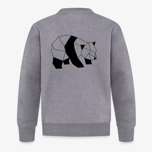 Panda geometrisch - Baseball Jacke