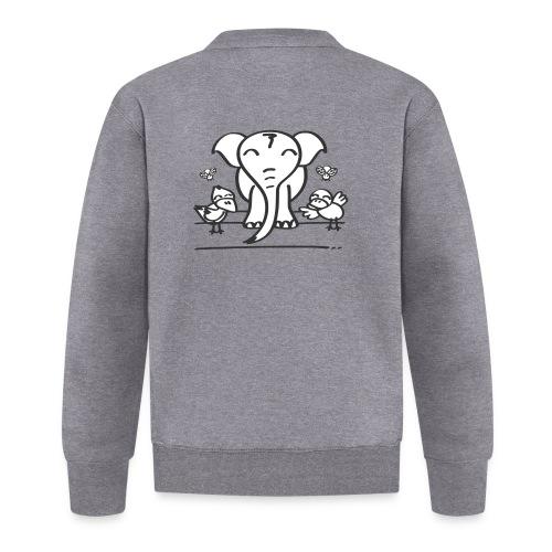 78 elephant - Unisex Baseball Jacke