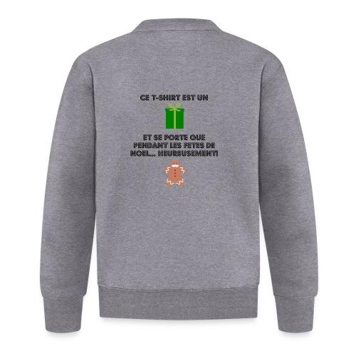 T-shirt cadeau de Noël - Veste zippée