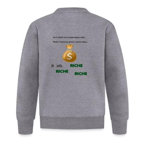 Je suis riche. - Veste zippée