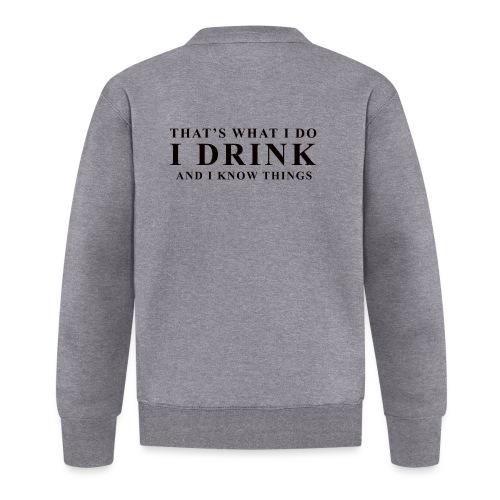 I DRINK - Baseball Jacket