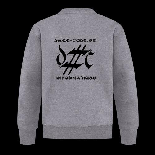 Dark-Code Black Gothic Logo - Veste zippée Unisexe