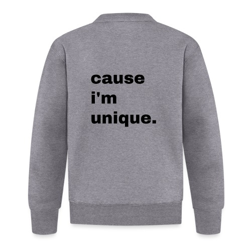 cause i'm unique. Geschenk Idee Simple - Baseball Jacke