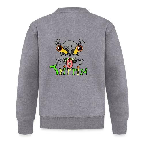 Totenkopf Trippin Design - Baseball Jacke