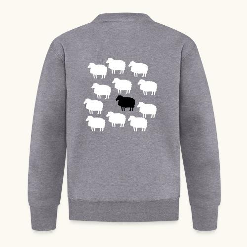 Lustige Schafherde Schwarzes Schaf Geschenkidee - Veste zippée Unisexe