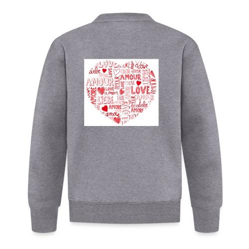 T-shirt texte amour - Veste zippée