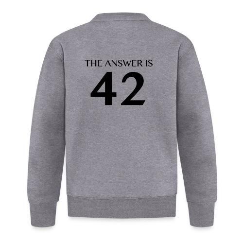 The Answer is 42 Black - Baseball Jacket