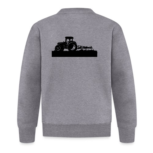 Tractor with cultivator - Baseball Jacket