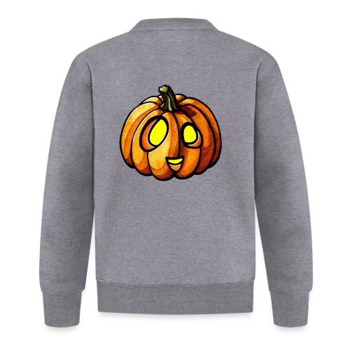 Pumpkin Halloween watercolor scribblesirii - Baseball Jacket
