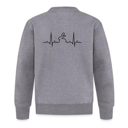 EKG Herzschlag Hase Kaninchen Zwergkaninchen - Unisex Baseball Jacke