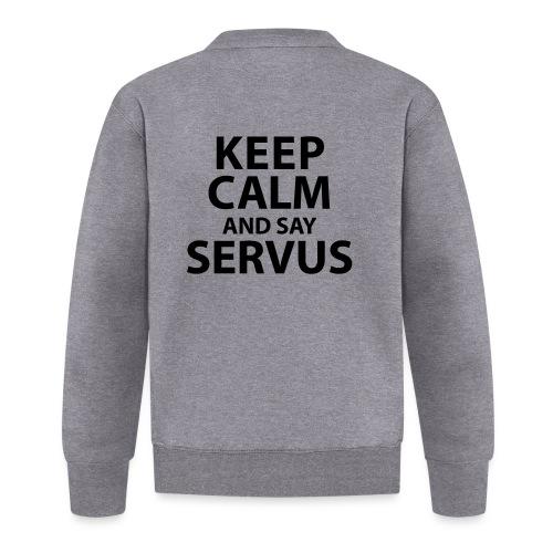 Keep calm and say Servus - Baseball Jacke