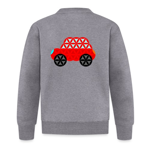 The Car Of Life - M01, Sacred Shapes, Red/R01. - Unisex Baseball Jacket