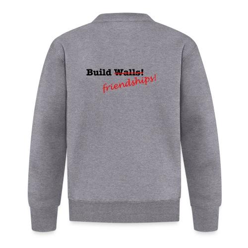 Build Friendships, not walls! - Unisex Baseball Jacket