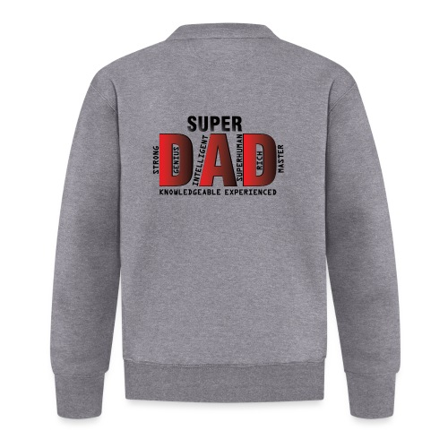 FATHER'S DAY - SUPER DAD DESIGN - Unisex Baseball Jacket