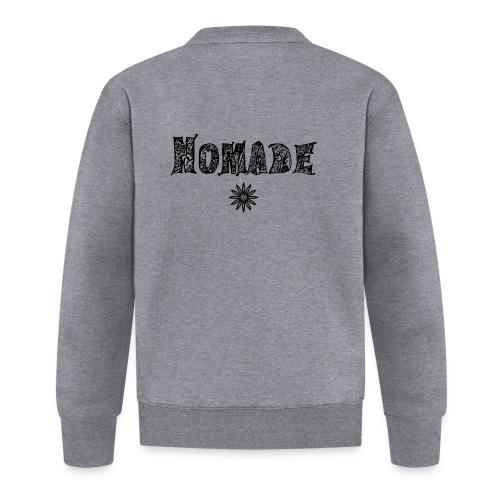 Nomade (en noir) - Veste zippée Unisexe