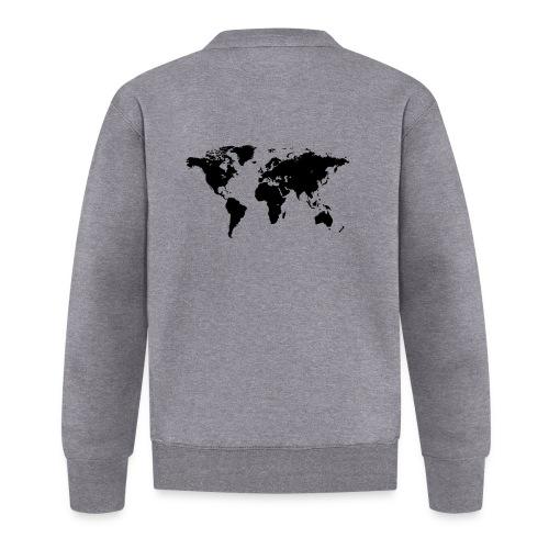 World Map - Unisex Baseball Jacke