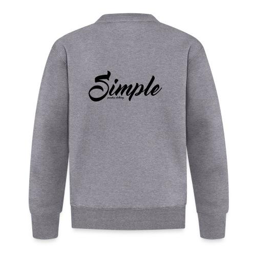 Simple: Clothing Design - Unisex Baseball Jacket