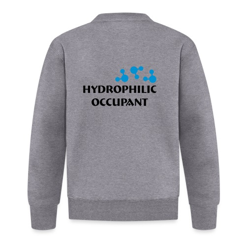 Hydrophilic Occupant (2 colour vector graphic) - Baseball Jacket