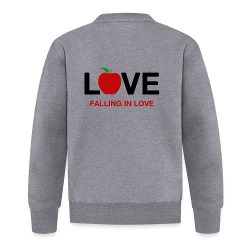 Falling in Love - Black - Unisex Baseball Jacket