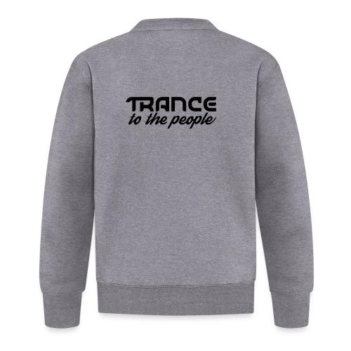 Trance to the People Sort Logo - Baseballjakke