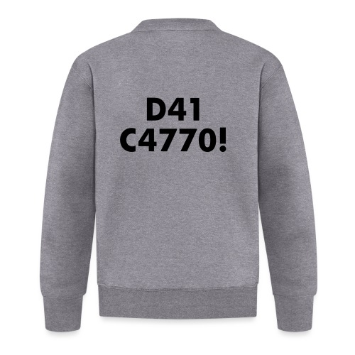 D41 C4770! tradotto: DAI CAZZO! - Felpa da baseball unisex