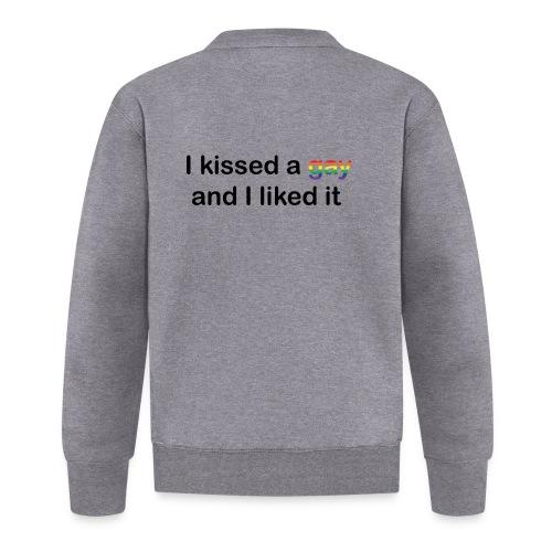 I kissed a gay - Unisex Baseball Jacket
