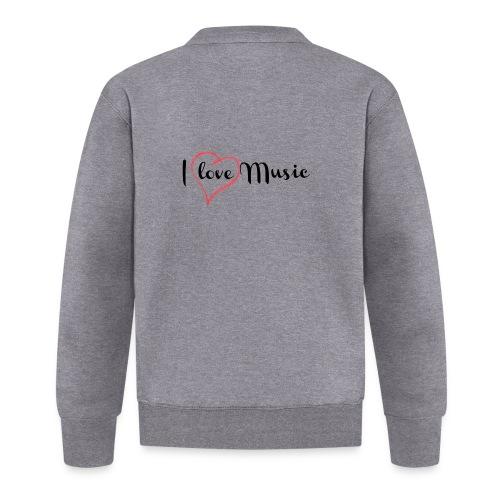 I Love Music - Felpa da baseball unisex