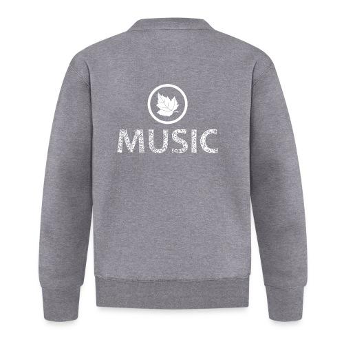 logo bashk music e bardhe - Baseball Jacket