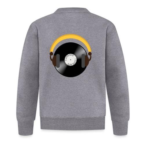 Retro Vinyl Record with headphone!. - Unisex baseballjakke