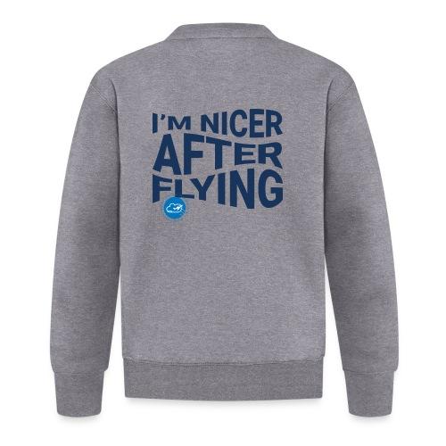 I'm nicer after flying (Blue) - Baseball Jacket