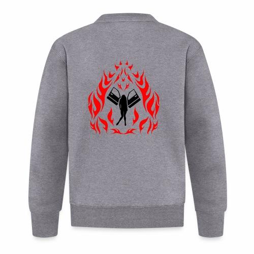 Engel / Flammen - Unisex Baseball Jacke