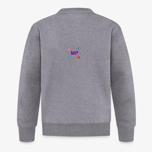 MP logo with social media icons - Unisex Baseball Jacket